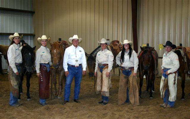 L to R: Becky Wood White, Debbie Jones, Ron Coufal (Equine Odor-Loc), Baru Forell, Whitney Anderson Fuston, Kim Lindsey.